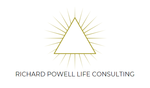 Richard Powell Life Consulting. Triangle Logo.
